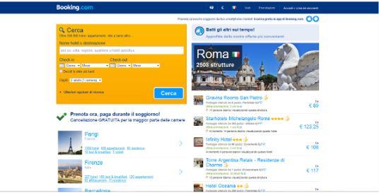 Alberghi economici online Booking