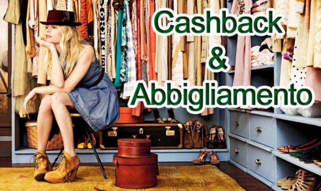 cashback su abbigliamento, borse e scarpe online