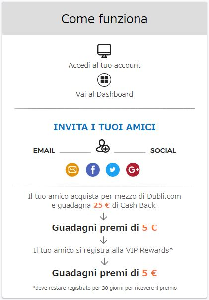 Programma di affiliazione siti cashback