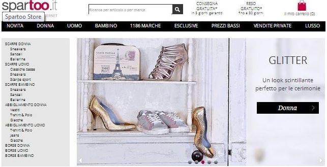Siti per comprare scarpe: Spartoo