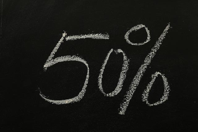 Saldi con oltre il 50% di sconto