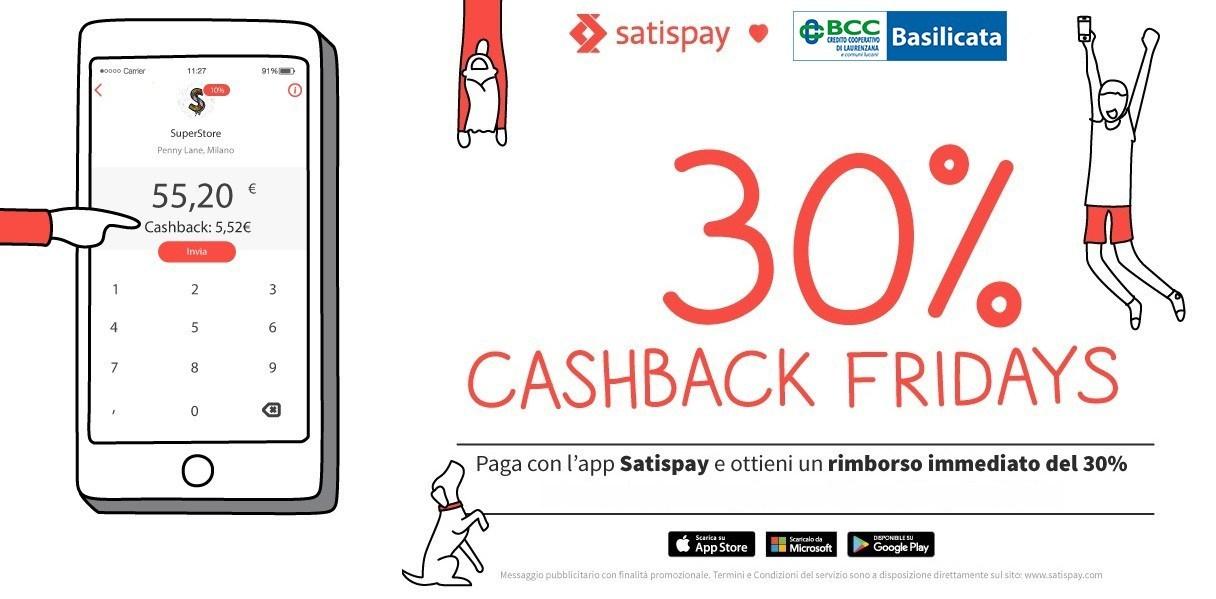 Cashback su Satispay