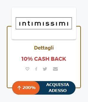 Cashback su Intimissimi