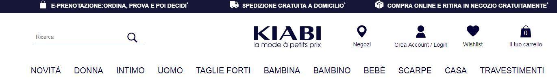 Abbigliamento economico online su Kiabi