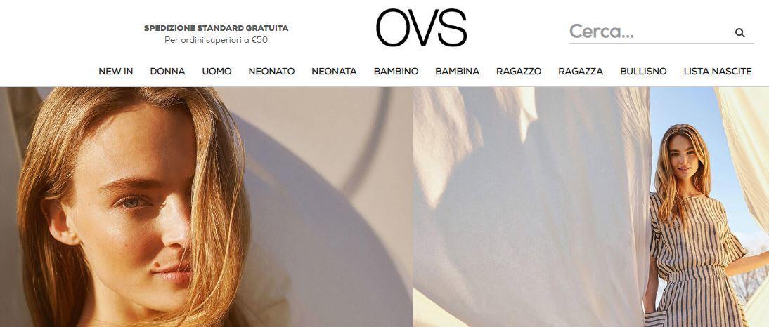 Siti abbigliamento online economici: OVS
