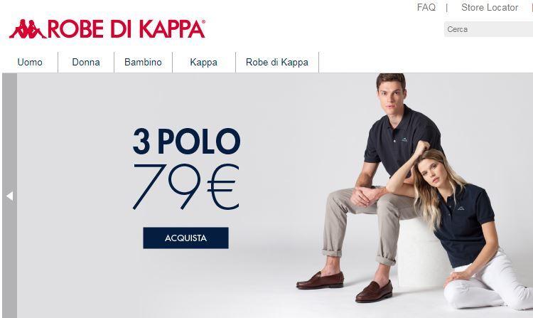 Siti abbigliamento online economici: Robe di Kappa