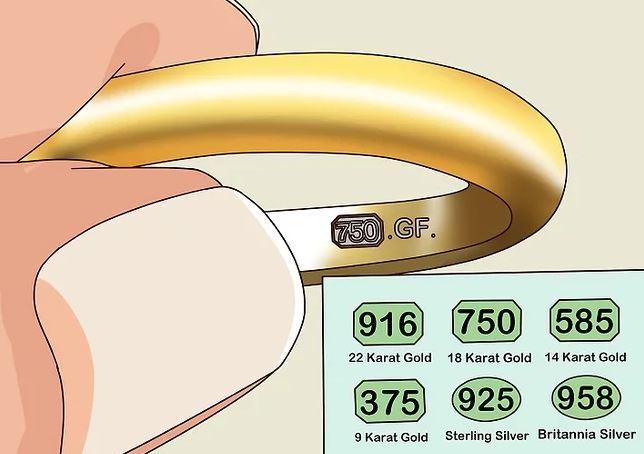Riconoscere l'oro vero con il controllo della punzonatura