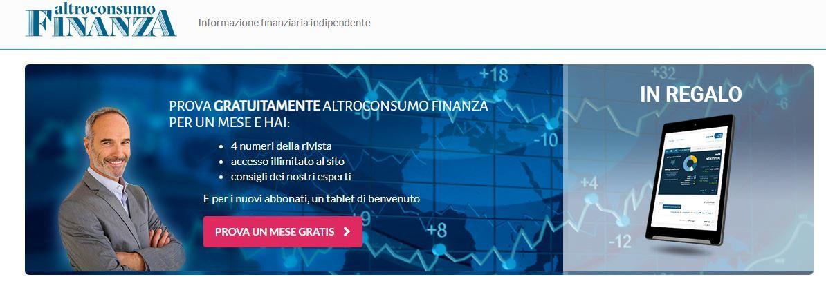 Iscrizione Altroconsumo Finanza