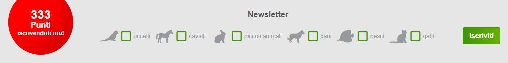 Iscrizione newsletter Zooplus