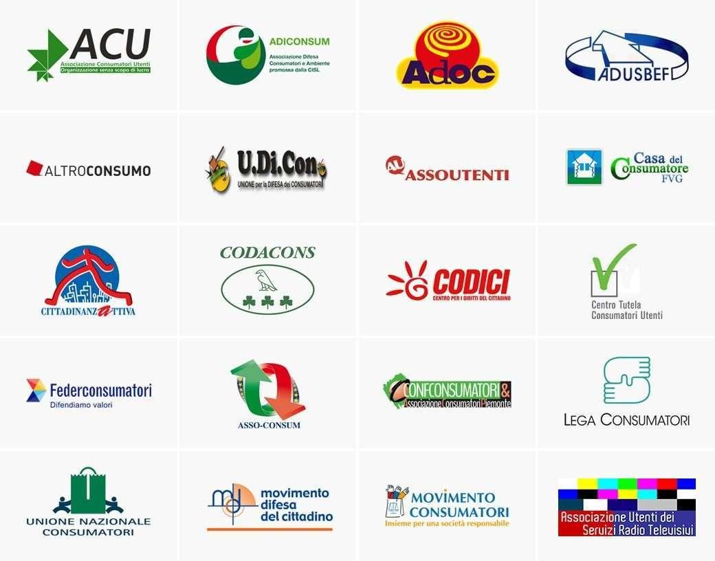 Principali associazioni dei consumatori italiane
