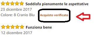 Recensione Amazon verificata