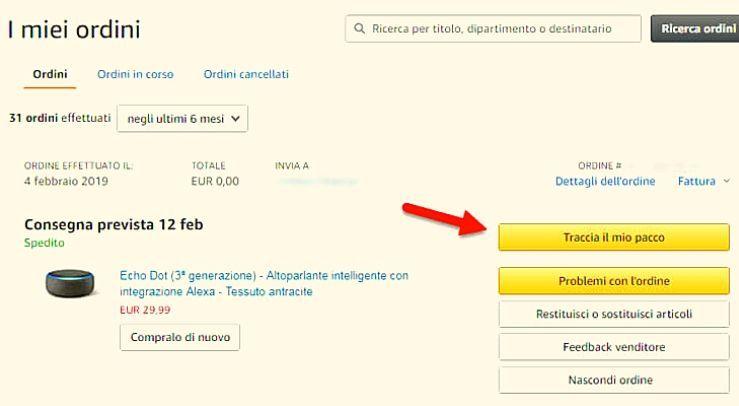 Come rintracciare un pacco Amazon