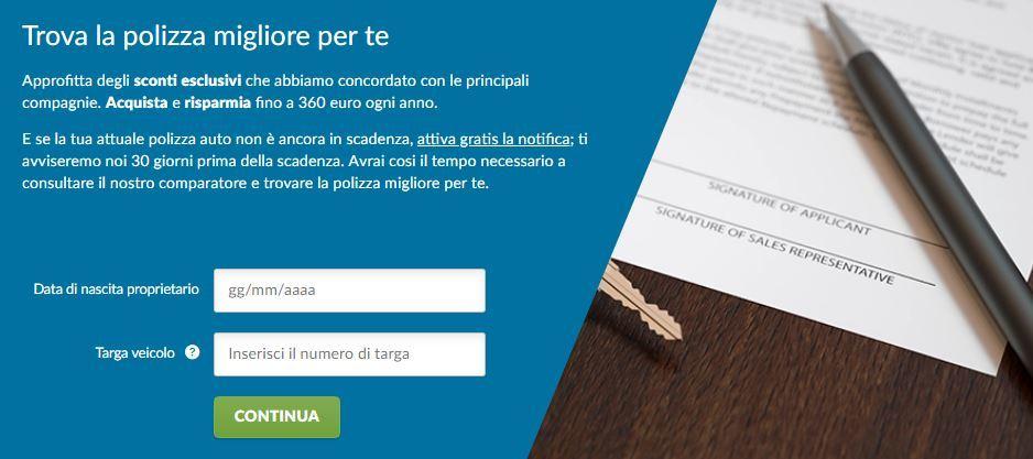 Comparatore assicurazioni online di Altroconsumo