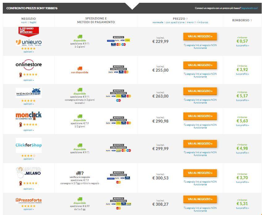 Comparatore prezzi Playstation e Xbox