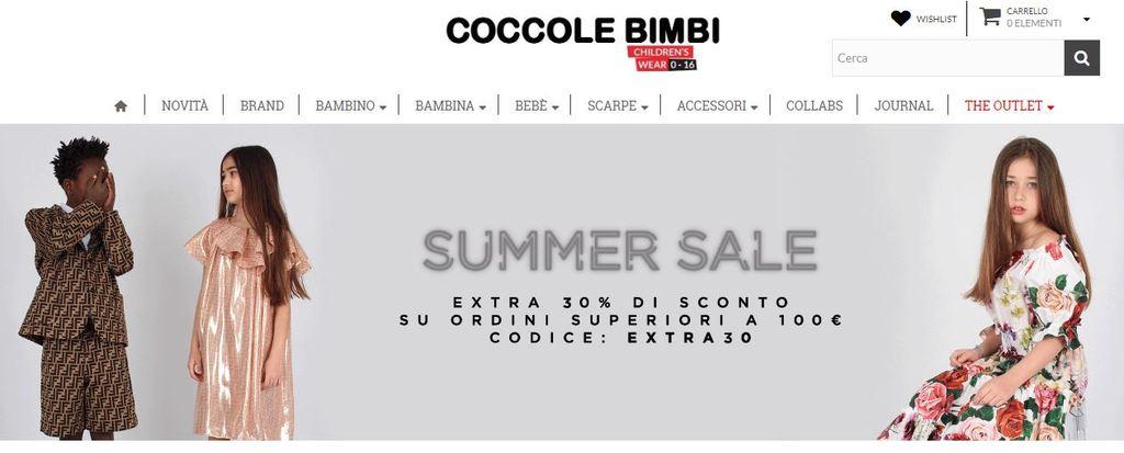 Homepage Coccolebimbi abbigliamento neonato firmato