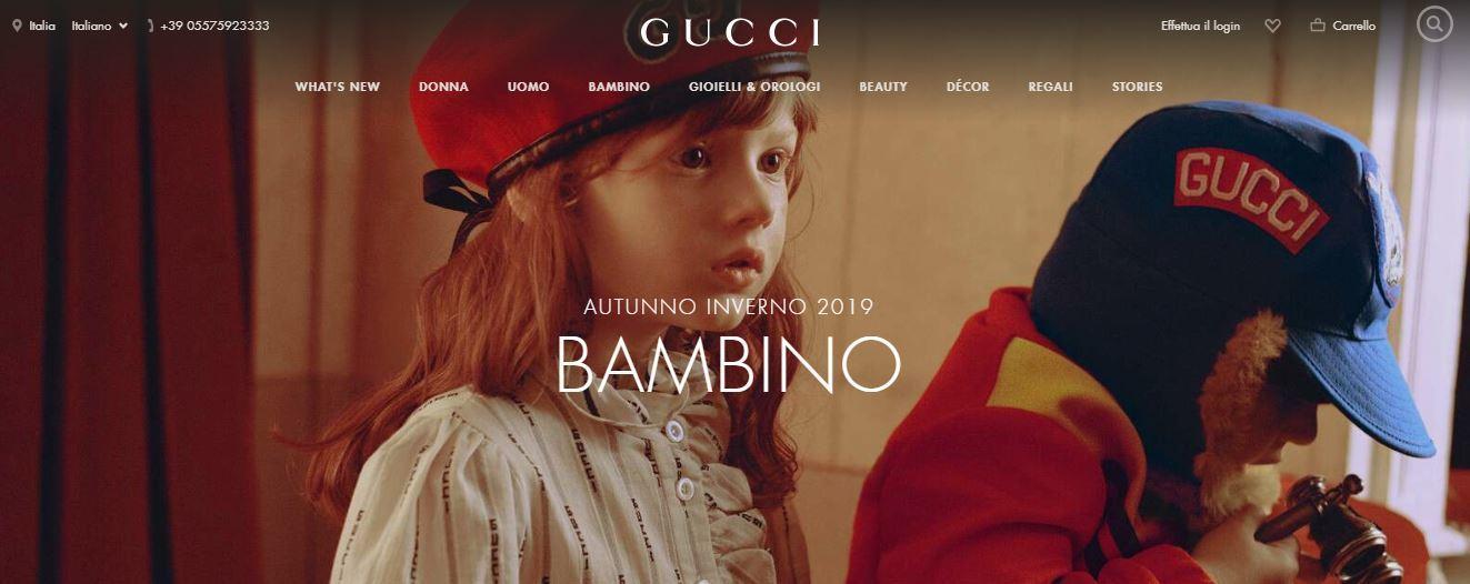 Gucci abbigliamento bambini firmato
