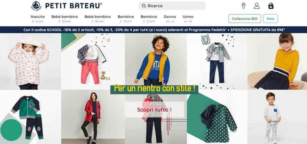 Homepage Petit Bateau abbigliamento neonato