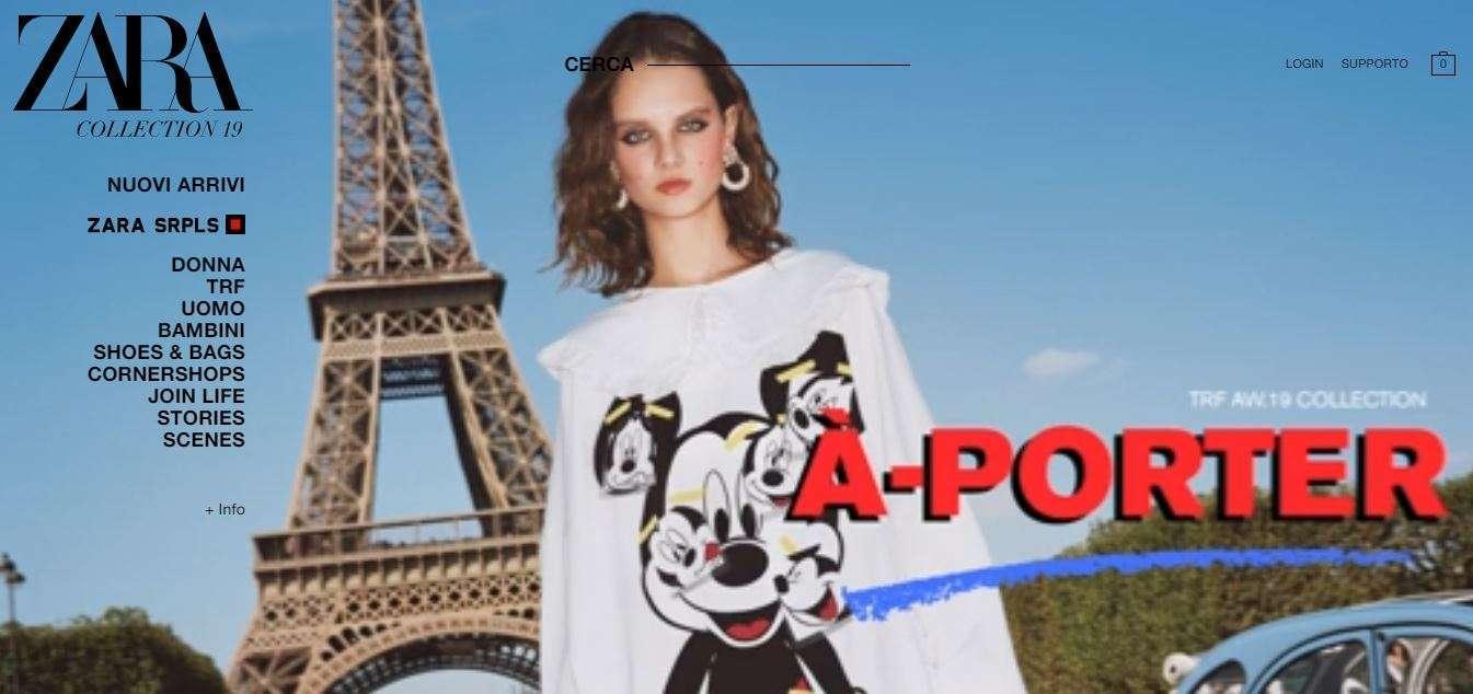 Saldi online di Zara