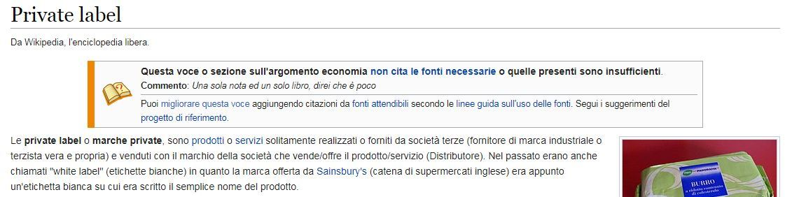Definizione Private Label Wikipedia