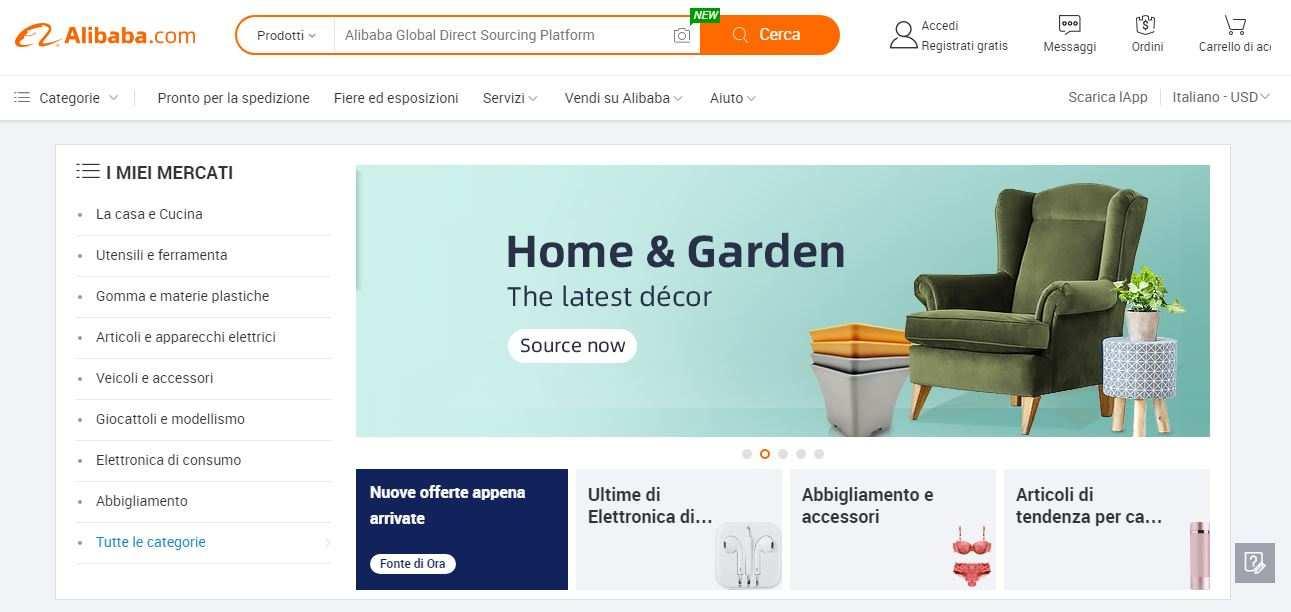 Sconti online Alibaba