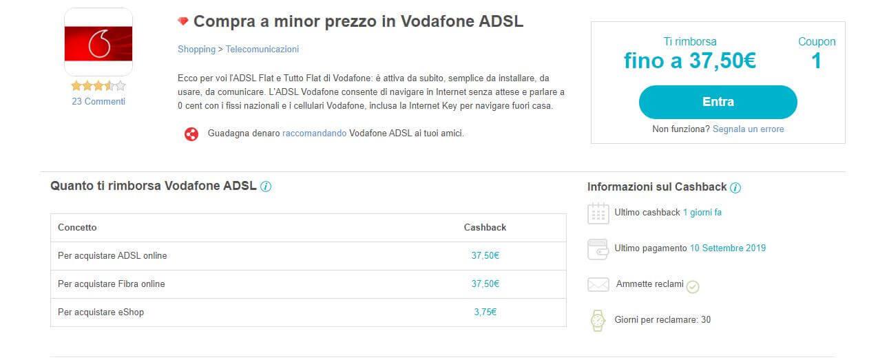 Cashback Vodafone su Beruby